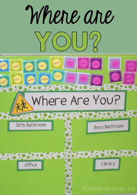 Pinterest Ida for your classroom! Here's a perfect way to keep track of where your students have gone! Use this in place of hall or bathroom passes!