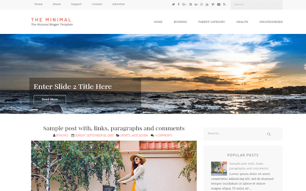 The Minimal Free Blogger Template