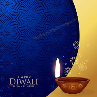 happy diwali diya image with message