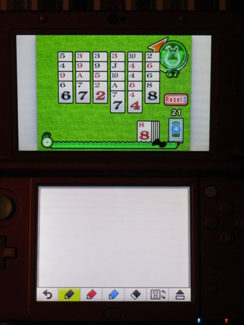 Pocket Card Jockey cheating method time attack Nintendo 3DS Game Notes home menu best scores