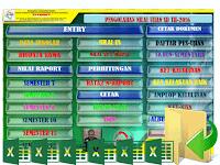 Aplikasi Pengolahan Nilai Kelas 7,8,9 SMP KTSP Revisi Terbaru Format Excel