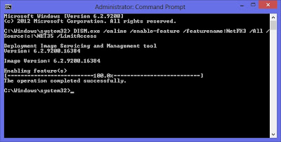 Command Prompt - Run as Administrator Windows 8 - .NET Framework