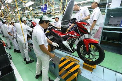 Proses Perakitan New Honda Sonic 150R