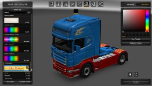 The Rangers Skin for Scania RJL