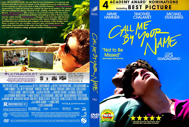Call Me By Your Name DVD Cover