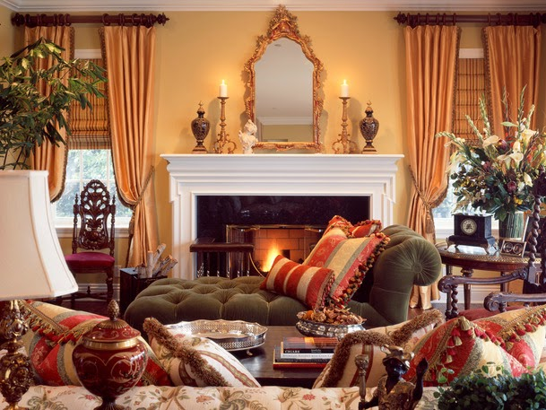 Southern Seazons: Living room mantel