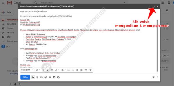 contoh isi body email lamaran kerja di gmail pc