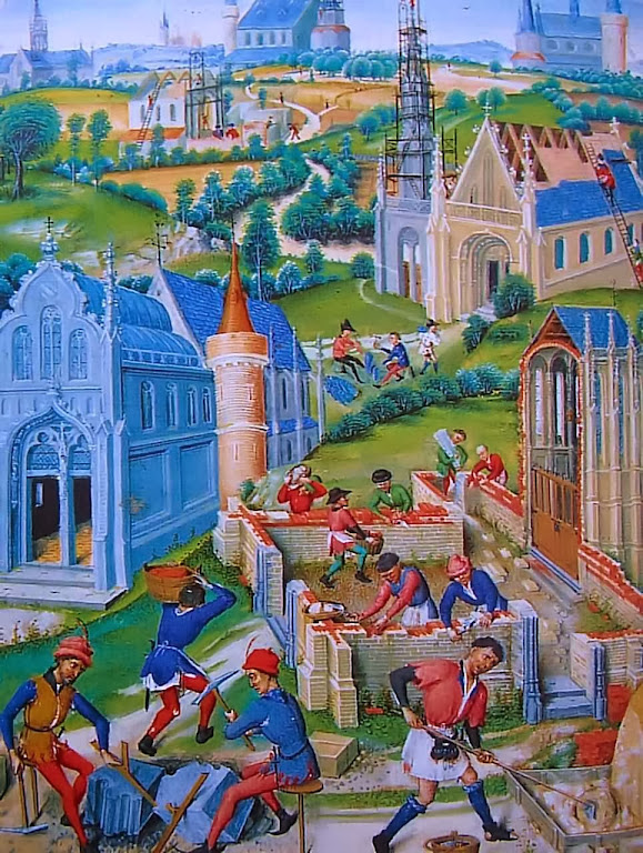 Construção de uma cidade medieval