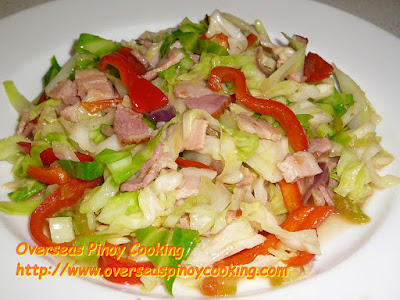Cabbage and Bacon Pinoy Style, Ginisang Repolyo with Bacon
