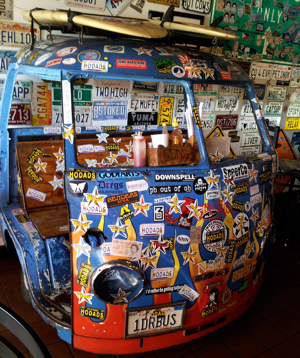 The VW bus table at Hodads