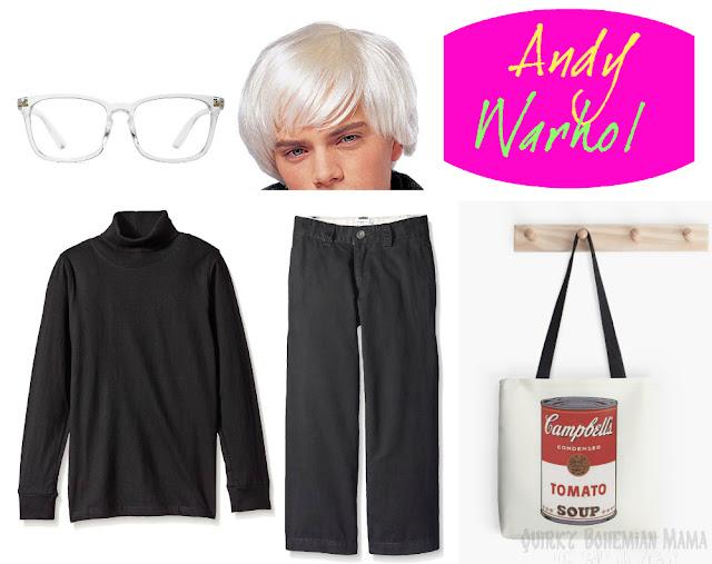 boys Andy Warhol csotume
