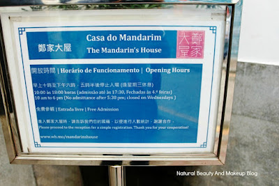 Signboard of Casa Do Mandarim or Mandarin's House located at Lilau square, Macau