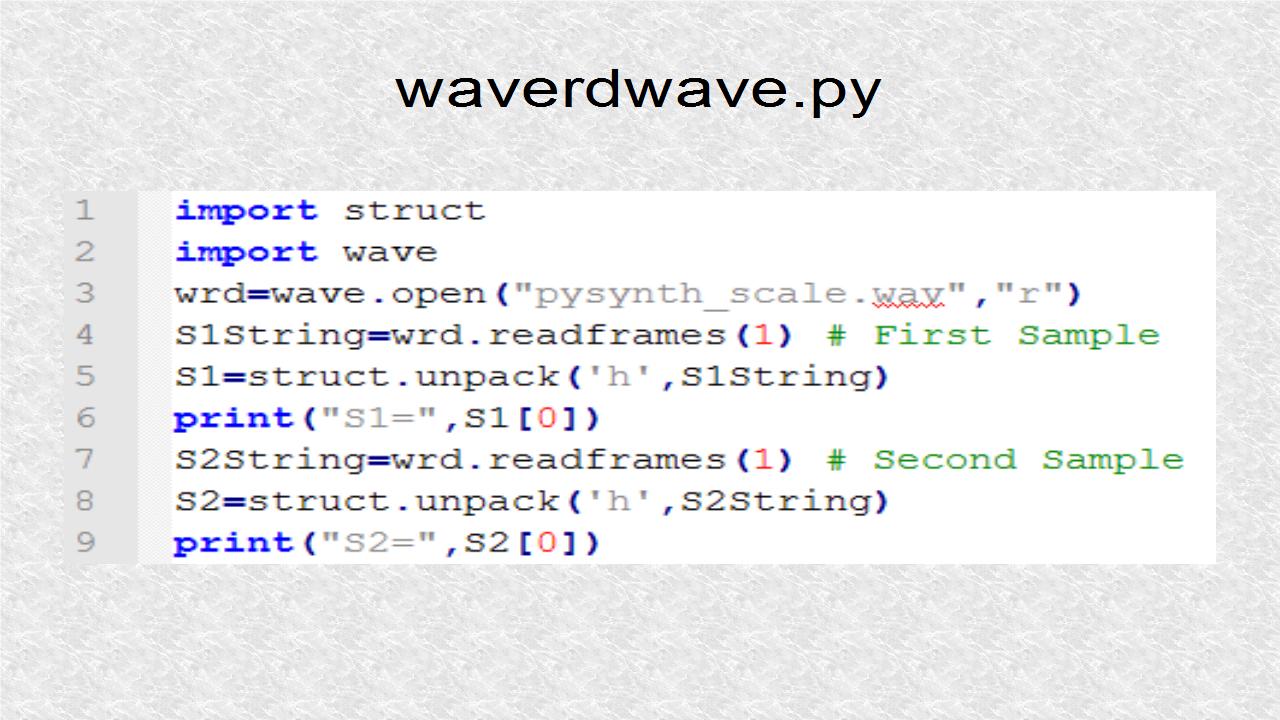 Python Wave
