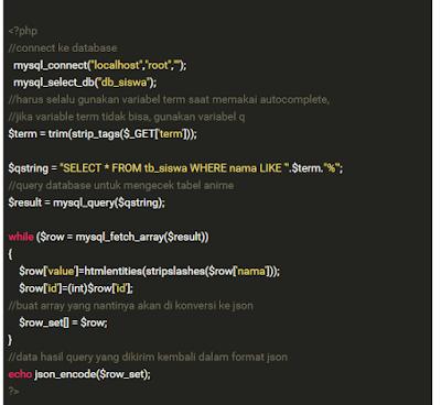 Begini Cara Membuat Autocomplete Dari Database Dengan PHP& jQuery + Source Code Gratis