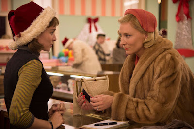 Rooney Mara and Cate Blanchett in Carol, film still