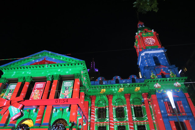 Melbourne Town Hall, Swanston St, Christmas
