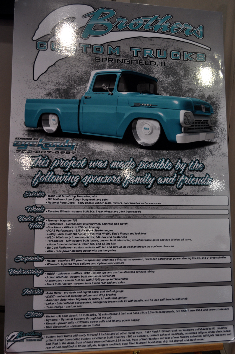 Just A Car Guy 2 Brothers Custom Trucks Brought 1960 Ford F100 To Auto Wiring Accessories See Their Other Work On Website Http 2brotherscustomtruckscom