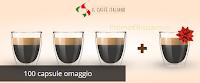 Logo Il Caffè Italiano : 100 capsule omaggio + buono sconto da 10 euro