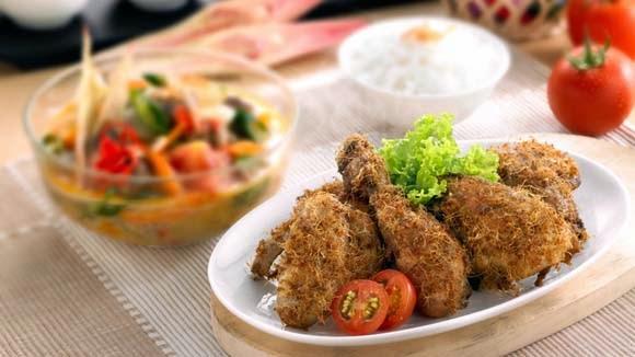 Ayam Goreng Sayur Godog Bumbu Kecombrang
