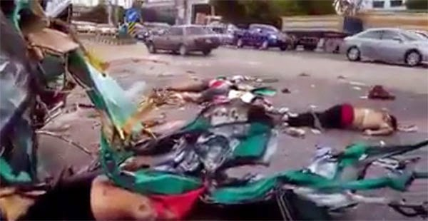 WARNING: Graphic Video Shows Terrible Road Accident
