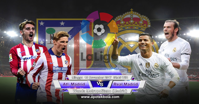 Prediksi Atletico Madrid vs Real Madrid 19 November 2017