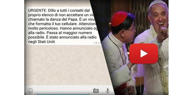 Vídeo a Dança do Papa e o falso virus do Whatsapp