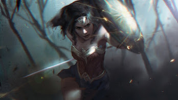 Wonder Woman, Shield, DC, 4K, #7.621