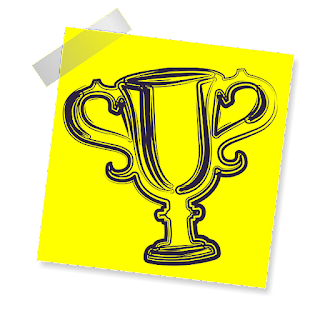 trophy post-it
