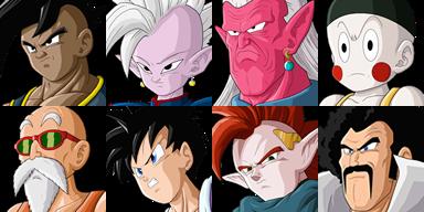 Graficos faciais Dragon Ball 1F2