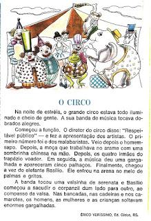 Leitura sobre o circo