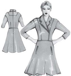 Выкройки платьев для зимы