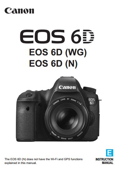 Canon EOS 6D Full Instruction Manual Download