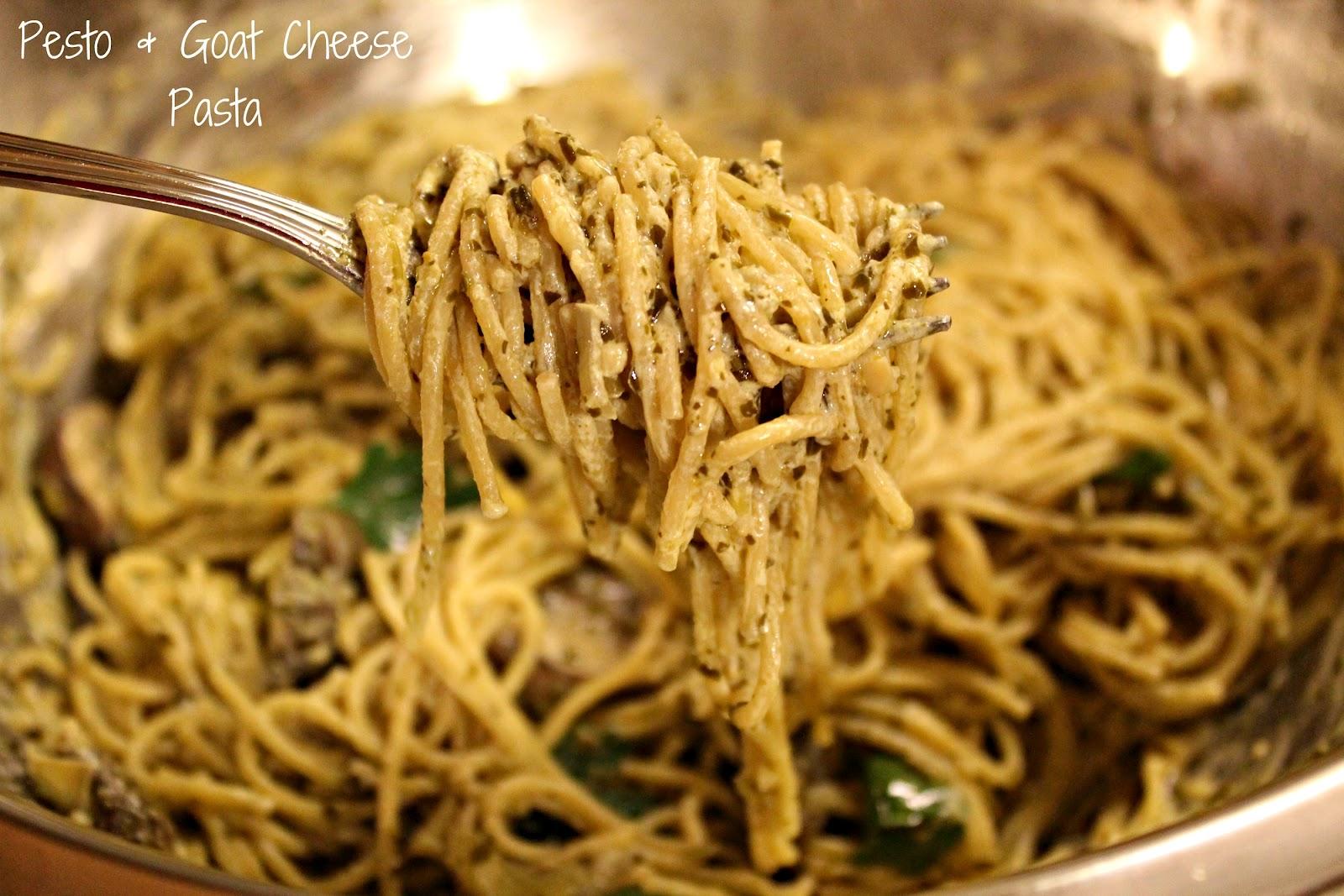 Pesto & Goat Cheese Pasta