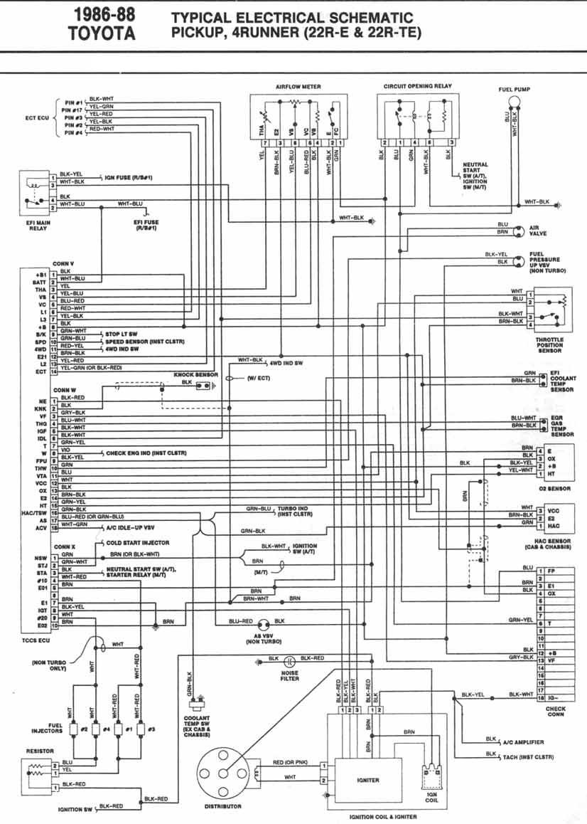 DDMP Automotriz: DIAGRAMA ELECTRICO 4Runner 19861988 22RE 22RTE