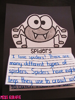 Spiders writing and other really fun October writing activities