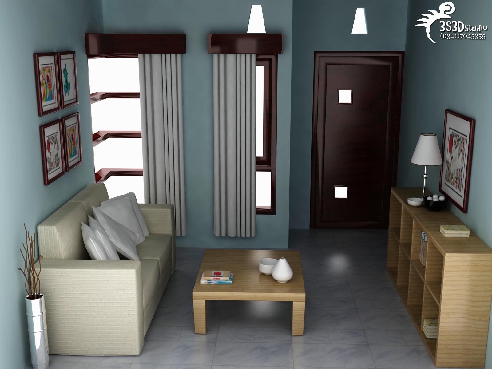 Desain Ruang Tamu Rumah Type 30