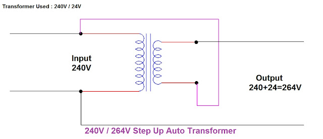 how a Step-down transformer can be used as an Auto Transformer