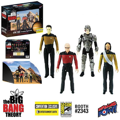 San Diego Comic-Con 2017 Exclusive The Big Bang Theory x Star Trek The Next Generation Action Figure Box Set Bif Bang Pow! x Entertainment Earth