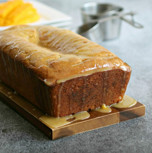 Glazed Mango Bread