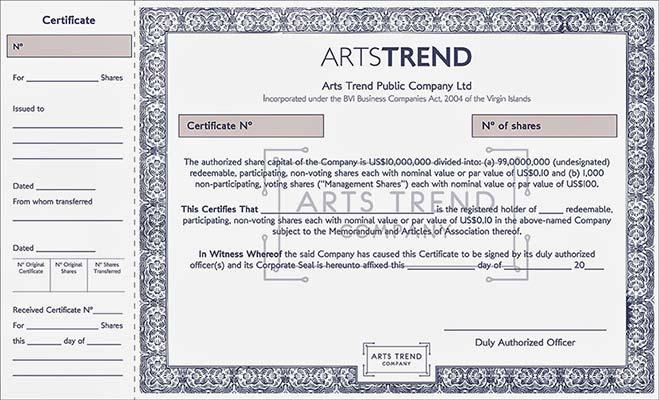 Инвестиции в искусство сертификат
