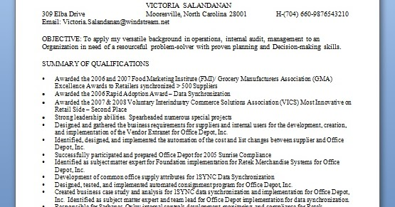 resume of quality manager - Quality Manager Resume