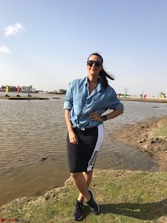 Neha Dhupia In puma and uniqlo on the sets of roadies Rising (1) ~ .jpeg