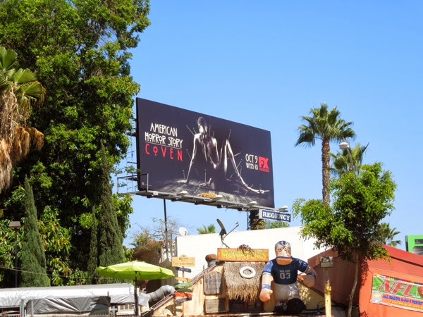American Horror Story Coven billboard Sunset Boulevard