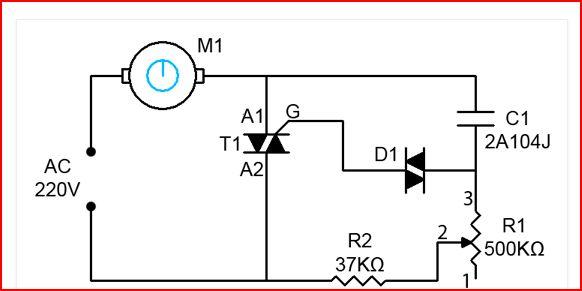 ceiling fan electronic regulator circuit diagram