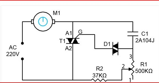 Ceiling Fan Regulator Motor Speed Control Circuit Diagram