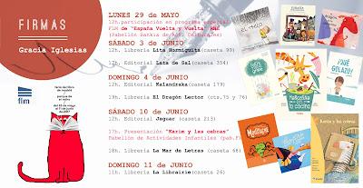 Feria del Libro de Madrid, 2017, mayo, junio, FLM, Feria, Libro, Madrid, Retiro, firmas, Gracia Iglesias, Felipe tiene gripe, Moustache, El hilo, Qué golazo, El Tesoro de Isla Cocina, Marcelina en la Cocina, Subasta Extraordinaria, Karim y las cebras, El dragón de la chimenea, Kalandraka, La Guarida, Pintar-Pintar, Lata de Sal, Jaguar, editorial, editoriales, edition, book fair, Madrid Book Fair, Nandibú, LIJ, literatura infantil, planes con niños, cuentos, cuentacuentos, actividades infantiles, fin de semana, RNE, Radio Nacional de España, España Vuelta y Vuelta, programa en directos, programa de libros, pabellón de actividades