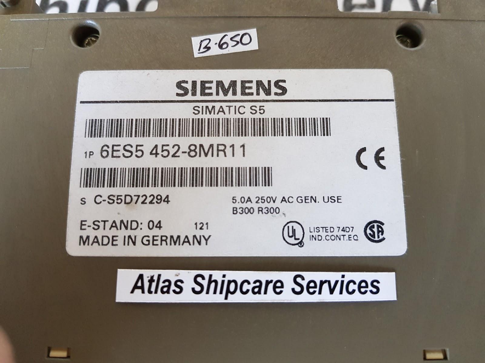 Siemens simatic s5 6es5 452-8mr11 modules 6es5452-8mr11