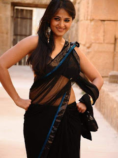 Anushka Shetty Black Saree Stills Gallery