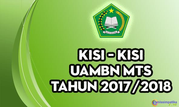 Download Kisi - Kisi UAMBN MTs Tahun Pelajaran 2017/2018