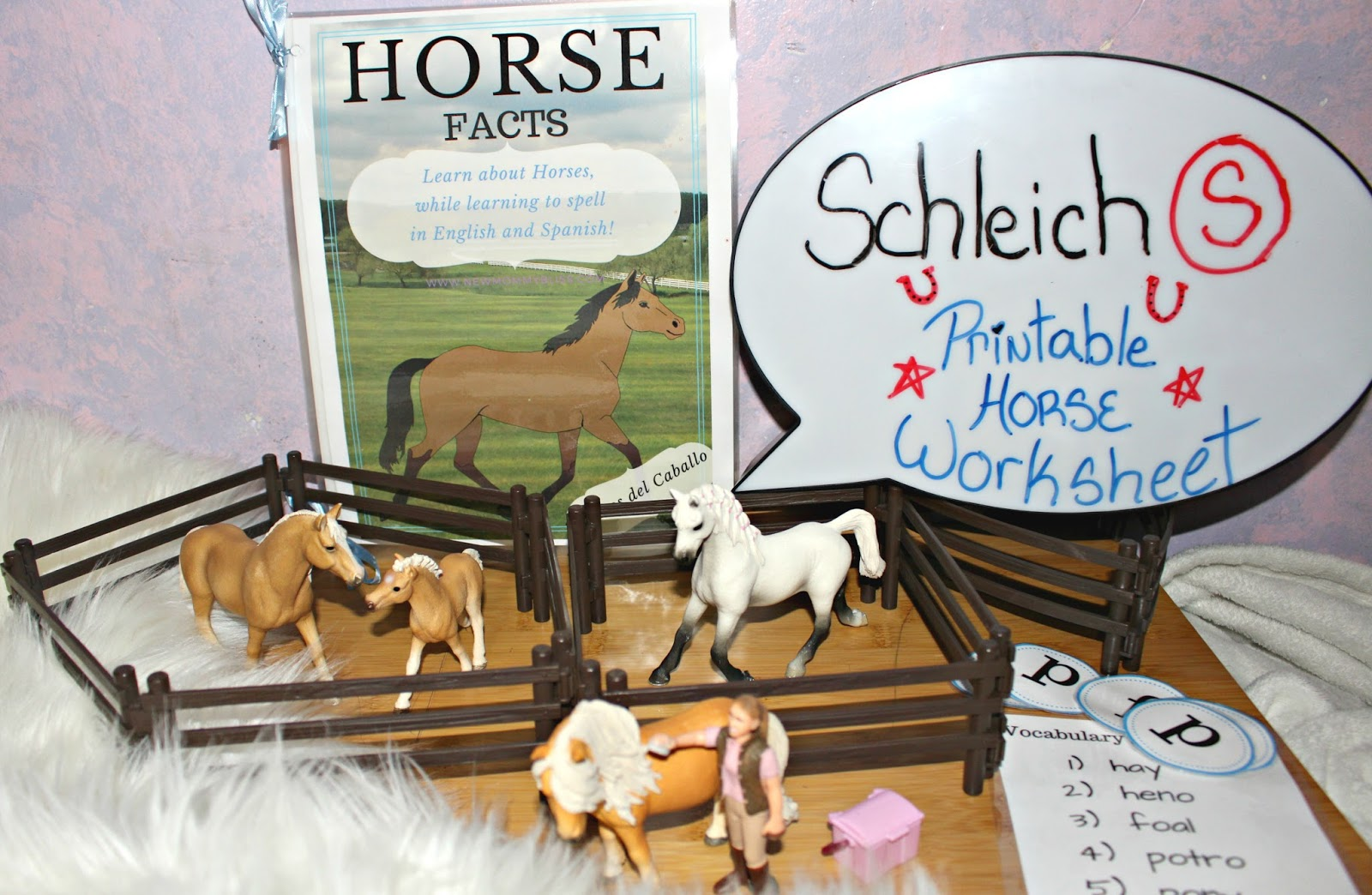Learning About Horses With Schleich Printable Bilingual Activity Book